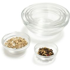 Shop Duralex Lys Clear Stackable Bowls and more from Sur La Table!