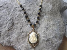 STUNNING VIRGIN MARY//BABY JESUS CAMEO NECKLACE! MOTHER BABY--GREAT GIFT!!!