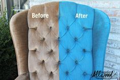 before after painting velvet fabric