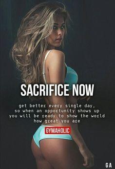 Sacrifice now