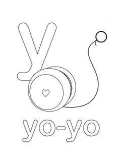1000 images about letter y pre school crafts on pinterest for Letter y coloring pages free
