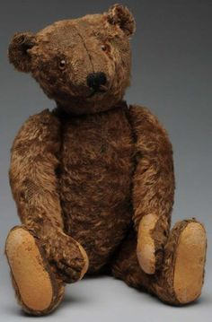 Early Steiff Mohair Teddy Bear.