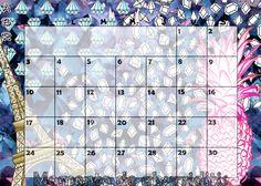 Calendario mensual #2016 - #Abril / #Monthly #Calendar #April