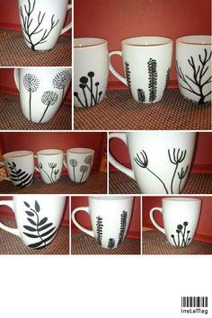 Selbst bemalte Tassen sind eine super Geschenkidee und sehen super aus