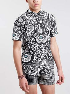 Jaded Evil Eye Short Sleeve Shirt*