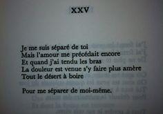 XXV « Je me suis séparé de toi » - Capitale de la douleur, Paul Éluard