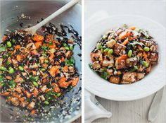 Wild Rice Salad with Miso Dressing, recipe from Sprouted Kitchen.
