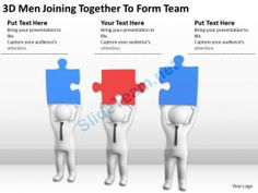 3D Men Joining Together to Form Team Ppt Graphics Icons Powerpoint #Powerpoint #Templates #Infographics