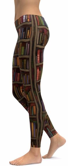 """*WorldWide Shipping *Made To Order Amazing Comfort Fit Library Book Leggings! Leggings are made with the best quality Polyester Spandex with Advanced""""Serge"""