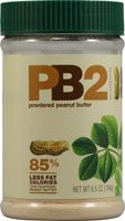 This is an all natural, no additives powdered peanut butter. It is 85% less fat calories with a shelve life of 12 months. Great for food storage!
