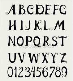 Font alphabet — Stock Vector © Oksana #9659298