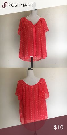 Flowy Summer Top Great top for a summer day and only worn once! Old Navy Tops