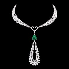 This 'Talisman' necklace is deeply inspired by this Indian folklore and thus represents the star in form of the rare 10.23 carats flawless no-oil pear shaped emerald which is surrounded by a universe of 292 rondelle diamonds and 514 brilliant diamonds that highlight the surface further while holding the emerald in the centre as the crowning glory. This quixotic necklace is part of Boghossian's 'Exceptional Jewellery' collection and it surely is a rare piece. #thegemdialogue #emeralds
