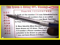 Win Pick 3 Lottery - Best Pick 3 Technique to capture winnings Everytime - YouTube