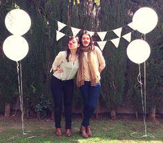 Banderolas blancas de tela de saco para el photobooth *yodeBlancoytudeNegro*