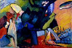 Painter Wassily Kandinsky. Improvisation 4. 1909