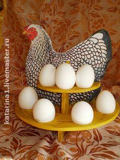 """Авторская подставка для пасхальных яиц""""Курочка Ряба"""" - украшение интерьера"""