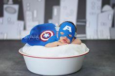 Kreations Photography / Newborn Photography / Captain America / Superhero