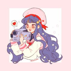 tomoyo 📹💖🌸 her love for sakura is one of the most beautiful loves i've ever experienced through manga okay? i adore this baby so much 💖😭… Kawaii Drawings, Disney Drawings, Cute Drawings, Arte Do Kawaii, Kawaii Art, Cute Art Styles, Cartoon Art Styles, Animes Wallpapers, Cute Wallpapers