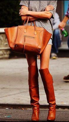 Celine_Boston_bag #thigh_high_boots #