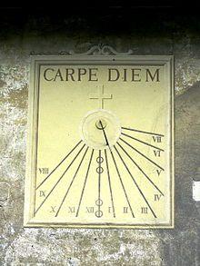 Carpe diem - Wikipedia, la enciclopedia libre