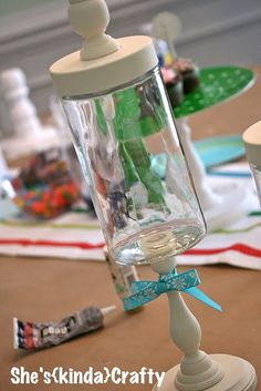 tutorial on how to... I have tons of old jars I can do this with.. hmmm now deciding on a color!