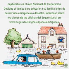 Septiembre es el mes #NacionaldePreparación. Infórmese mejor sobre los cierres de las oficinas del Seguro Social.  www.segurosocial.gov/espanol/agencia/emergencia/
