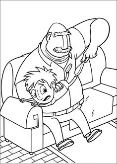 Cloudy with a Chance of Meatballs Coloring pages for kids. Printable. Online Coloring. 7