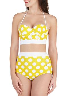 Would totally wear this! Seasons of the Sun Swimsuit Top | Mod Retro Vintage Bathing Suits | ModCloth.com