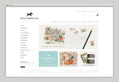 Rifle Paper Co. web layout