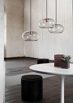 Frandsen New Kobe Pendel Smoke Glass Kobber Light Fittings, Light Fixtures, Industrial Style Lamps, Berlin Design, Home Lighting, Interiores Design, Pendant Lamp, Pendant Lights, Kobe