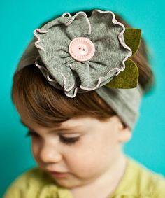 Love this Gray & Pink Mayflower Headband by Snugars on #zulily! #zulilyfinds