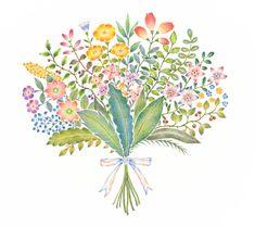 "Atelier RiLi | アトリエ リリ ""Rainbow Bouquet No. 2 | 虹色の花束 No. 2""___ #atelier #art #picturebook #gallery #designer #design #illustrator #illustration #plant #bouquet #flower #rainbow | #アトリエ #アート #絵本 #ギャラリー #デザイン #イラスト #植物 #花輪 #リース #花 #虹"