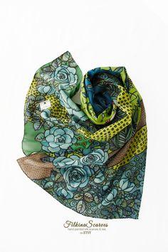 Women/'s Bird Tropical Print Scarf Shawl Wrap UK Seller Floral Flowers Valentines