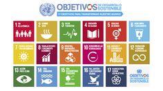 Objetivos de desarollo sostenible. 17 objetivos para transformar el mundo: 1. Fin de la pobreza. 2. Hambre cero. 3. Salud y bienestar. 4. Educación de calidad. 5. Igualdad de género.
