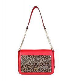 5260519a7626 Class Roberto Cavalli Red Leopard Print Shoulder Bag Red Leopard, Roberto  Cavalli, Kate Spade