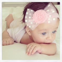 Hey, I found this really awesome Etsy listing at http://www.etsy.com/listing/153832240/pink-polka-dot-bow-headband-barrette