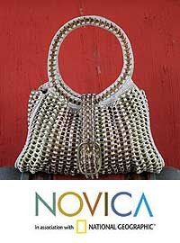Soda Pop-Top Handbag, 'Twin Power' at The Animal Rescue Site - $224.95