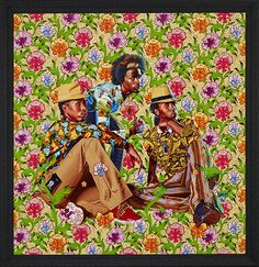 "Kehinde Wiley Studio - Three Boys, 2013 Oil on canvas 92 "" x 92"""