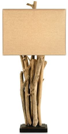 Driftwood Table Lamp: Beach Decor, Coastal Home Decor, Nautical Decor, Tropical Island Decor & Beach Cottage Furnishings