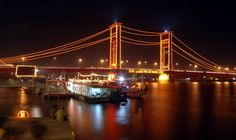 Ampera bridge is an icon of Palembang,visit soon :)