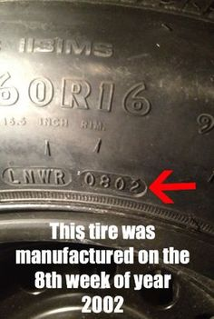 Important!  how to determine the age of a tire - you need to know this information if you buy used tires.