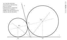 Circunferencias tangentes a rectas. Problema de Apolonio · Dibujo Técnico Ppr, Line Chart, Plane Geometry, Drawing Techniques