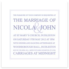 Wedding Invitation in Violet Tulip £1.60 #weddinginvitation