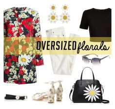 """Oversized florals"" by depolo-marina ❤ liked on Polyvore featuring Dolce&Gabbana, Kate Spade, Ted Baker, J.Crew, Arizona and oversizedflorals"
