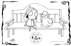 Sarah & Duck on a Bench