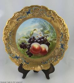 Exceptional Antique c.1900 Coiffee French Limoges LS&S Cabinet Plate