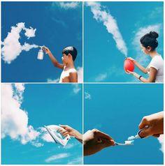 Guardare le nuvole e viaggiare con la fantasia, riconoscendo forme e oggetti nel cielo. Chi non l'ha mai fatto?! L'Instagrammer, Raul Fonseca, inserisce le nuvole bianche in scene di vita reale e crea effetti davvero sorprendenti. #Instagram #Viralgram