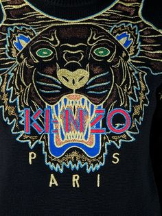 Kenzo sweaters | I want to make a cheap knock-off with neon puff paint.