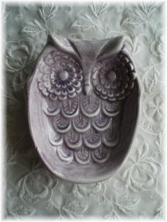 Owl Spoon Rest Soap Dish Home Decor Light by Angelheartdesigns, $15.00